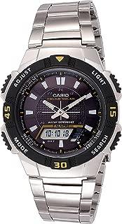 Men's AQS800WD-1EV Slim Solar Multi-Function Analog-Digital Watch