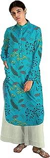 RADANYA Women Tropical Printed Full Sleeve Cotton Ethnic Kurti Kurta