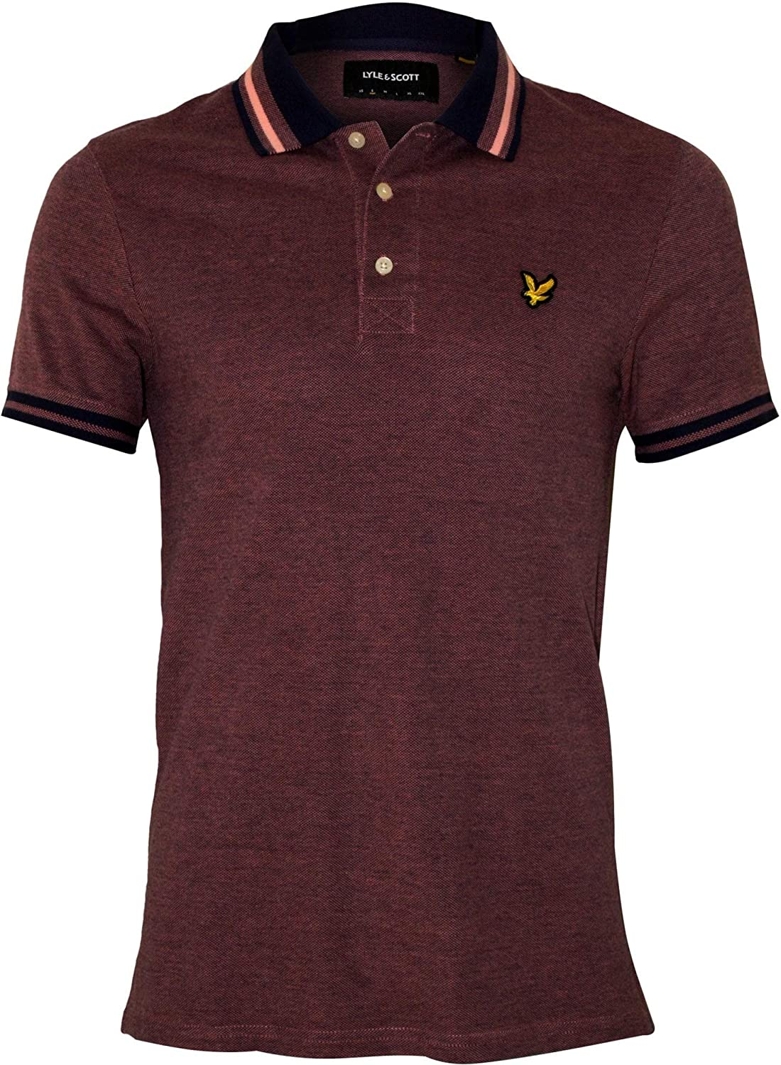 Lyle Scott Tipped Oxford Pique Men's Navy Ranking TOP13 Gifts Polo Lilac Shirt Ma