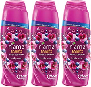 Fiama Scents Juniper and Geranium Body Wash, shower gel with long lasting fragrance, 250 ml (Combo pack of 3)