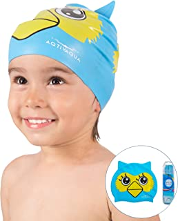 AqtivAqua Swim Cap Kids + Tube Carry Case