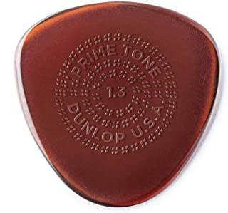 Dunlop Primetone Semi-Round 1.3mm Sculpted Plectra (Grip) - 3 Pack Acoustic Guitar Pickup (514P1.30)