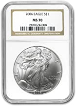 2006 silver eagle ngc ms70