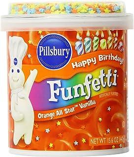 Pillsbury Funfetti Orange All Star Vanilla Frosting (Pack of 2) 15.6 oz Tubs