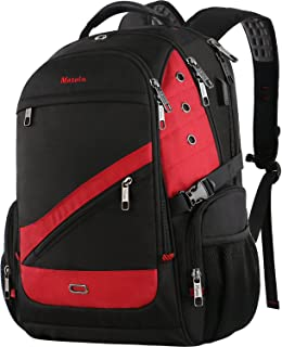 MATEIN Large Travel Backpack, 17.3 Inch Laptop TSA XL Heavy Duty Computer Backpack with USB Charger Port, Water Resistant Business College Daypack Big School Laptop Bag for Men Women Dark Red