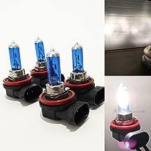 Mega Racer Combo 2 Pair H11 100W White 5000K Xenon Halogen Headlight Lamp Light Bulb (Low Beam) Replacement Auto