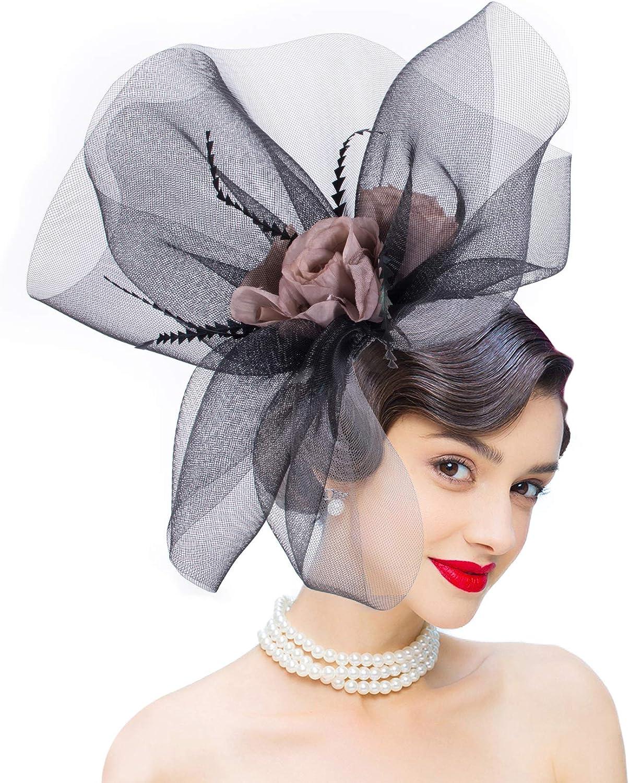 Lawliet Womens Huge Veil Netting Kentucky Derby Party Fascinator Hat T354 Black