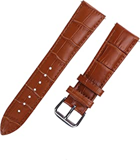 Xuexy 20mm Quick Release Pins Comfortable Genuine Leather Watch Band for Samsung Gear S2 Classic (SM-R7320/SM-R735), Moto 360 2nd Gen 42mm 2015, Pebble Time Round, Brown