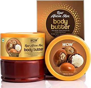 WOW Skin Science Raw African Shea Body Butter for Ultra Rich Moisturising - For All Skin Types - No Parabens, Silicones, M...