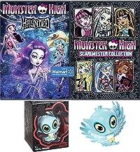 Monster High Fun Movie Cartoon Bundle Monster High Sir Hoots-A-Lot Owl Vinyl Figure Fun set Scaremester High DVD + Haunted Cartoons pack
