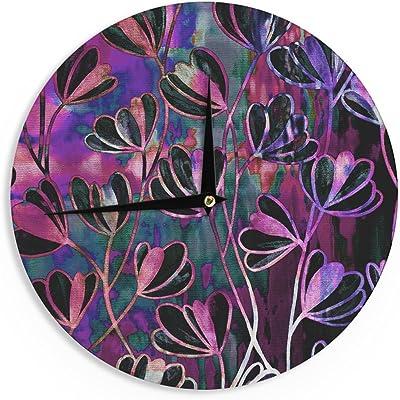 Kess InHouse EBI Emporium Efflorescence-Technicolor Red Multicolor Decorative Door 2 x 3 Floor Mat