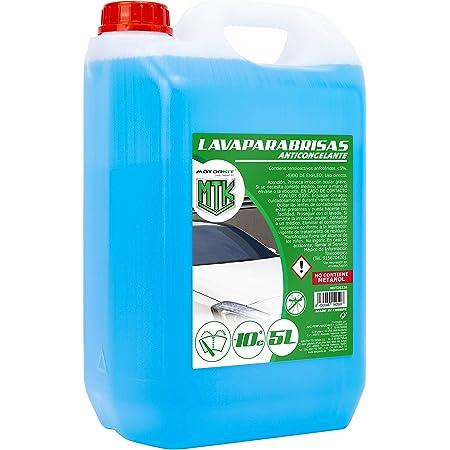 Motorkit MOT20326 Lavaparabrisas anticongelante, Apto para Clima de hasta-10 Grados C, 5L (sin metanol)
