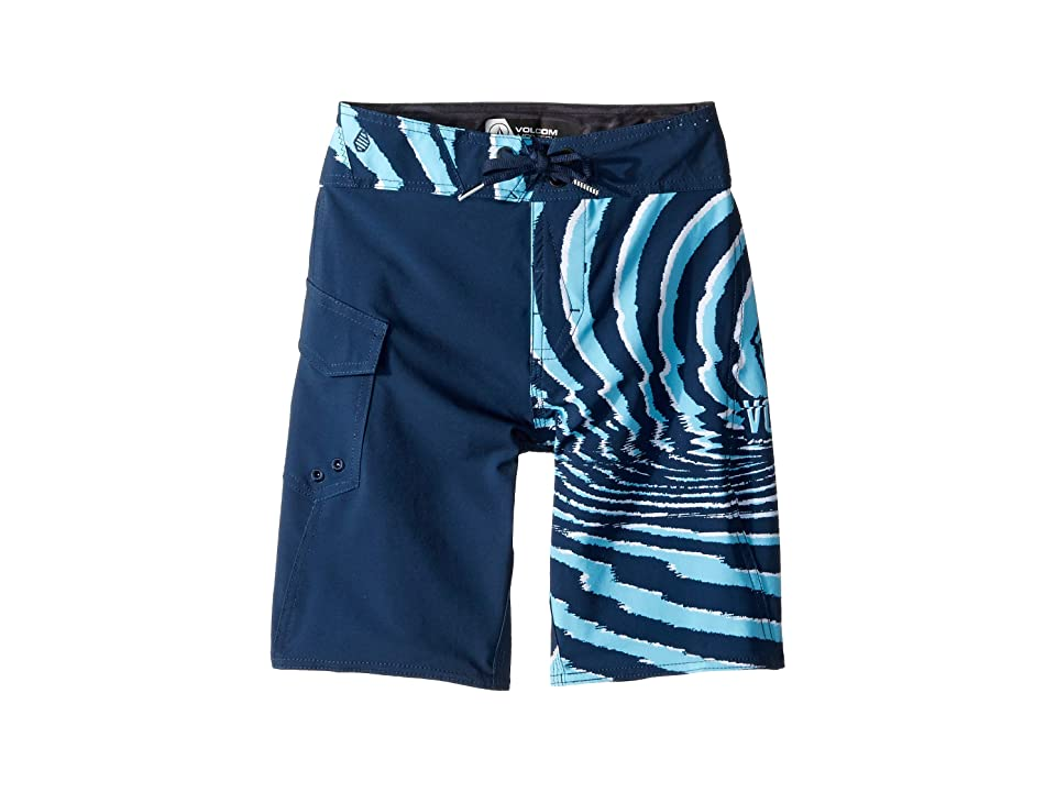 Volcom Kids Lido Block Mod Boardshorts (Big Kids) (Melindigo) Boy