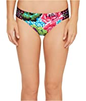 La Blanca - Flora Garden Side Shirred Hipster Bottom