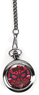 Matching World Marvel Spider-Man: Homecoming Logo Silver Pocket Watch