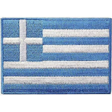 3 Griechenland Flaggen Athen Greece Flags Patch Aufnäher Aufbügler 0647 Auto