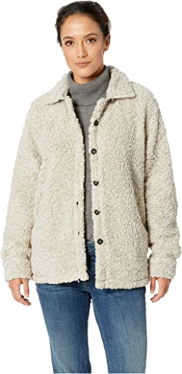 Soft Shearling Tipped Pile Shirt Jacket