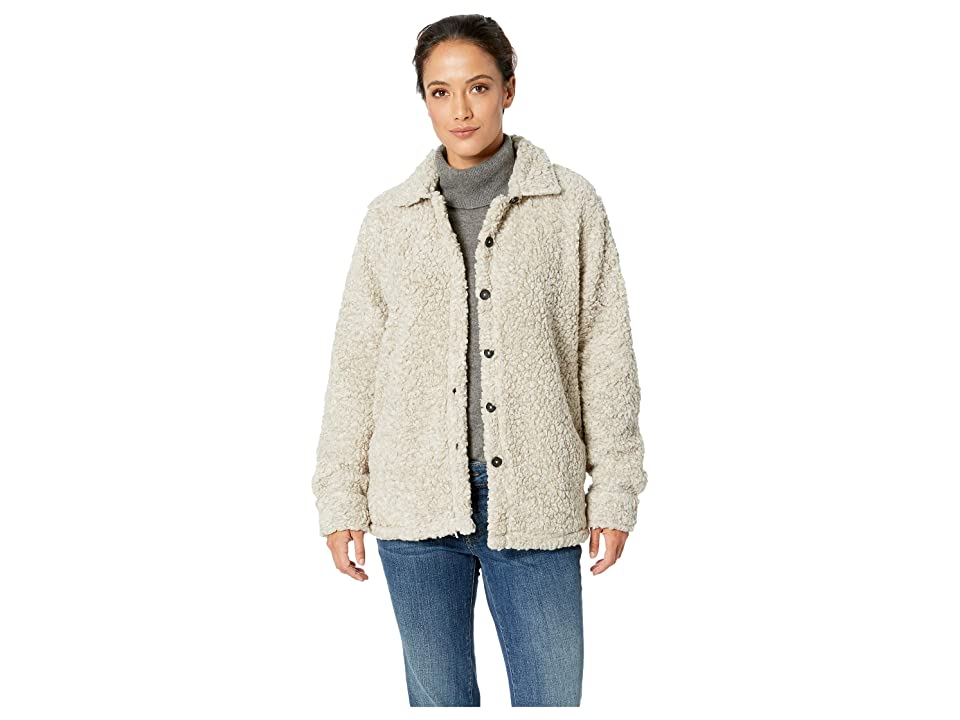 Dylan by True Grit Soft Shearling Tipped Pile Shirt Jacket (Putty) Women