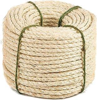 Yangbaga Hamparep, 8 mm tjockt rep starkt naturligt rep, jutrep i fyra lager för pysselrep/katt klösrep/trädgårdspaket, le...