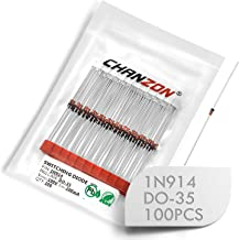(Pack of 100 Pieces) Chanzon 1N914 Small Signal Fast Switching Diodes High-Speed Axial 200mA 100V DO-35 (DO-204AH) IN914 914 200 mA 100 Volt