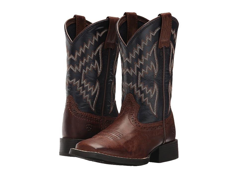 Ariat Kids Tycoon (Toddler/Little Kid/Big Kid) (Brazen Brown/Arizona Sky) Cowboy Boots