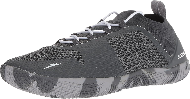 Speedo Men's Fathom AQ Fitness Water shoes, Dark Heather Grey, 11H US
