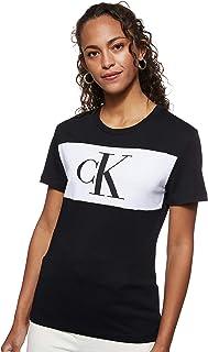 Calvin Klein Jeans Women's CKJ Blocking Monogram CK BAE BLK WMN TEE, Ck Black, M