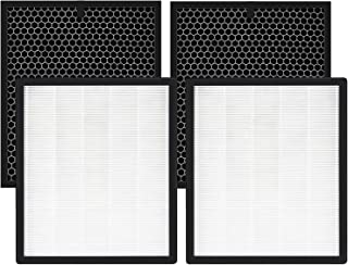 isinlive LV-PUR131 Replacement Filters for LEVOIT Air Purifier HEPA Filter and Activated Carbon Pre-Filter (2 Pack)