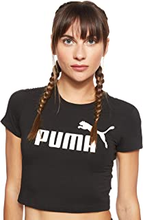 Puma Amplified logo fitted tee Shirt For Women