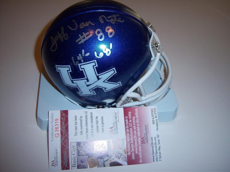 Jeff Van Note Signed Mini Helmet  Kentucky coa  JSA Certified  Autographed College Mini Helmets