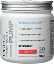 PhD Nutrition Pre-Workout Supplement Pump Fruit Punch Estimated Price : £ 12,99