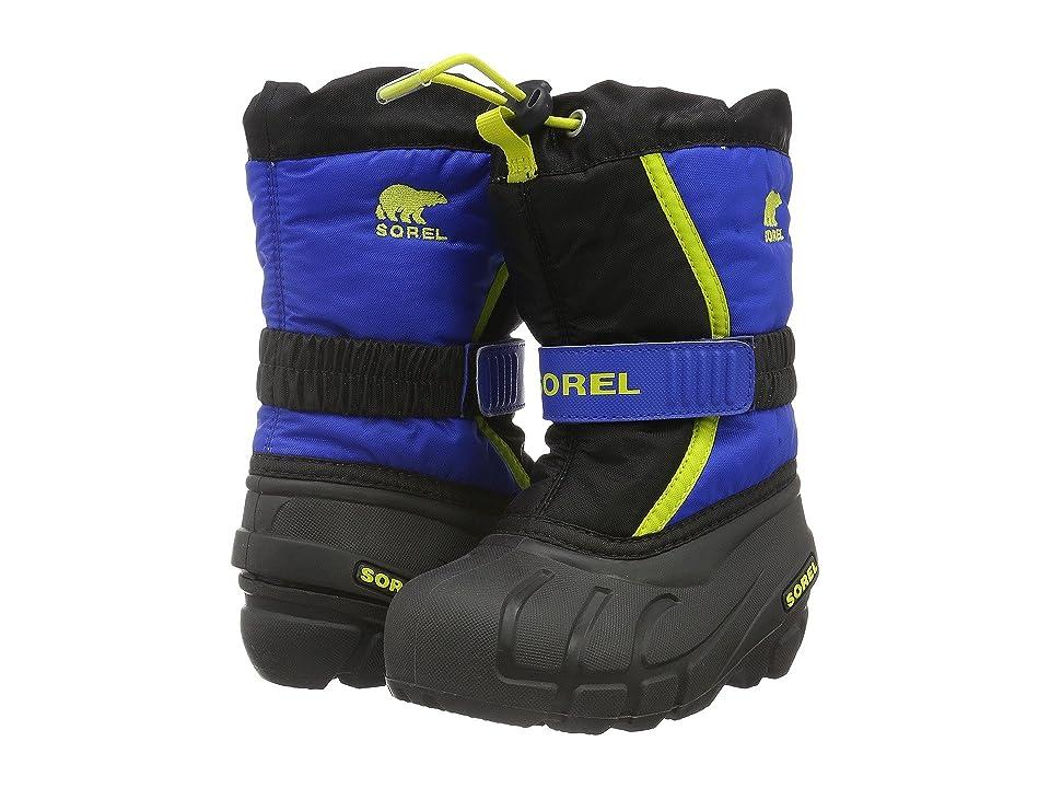 SOREL Kids Flurry (Toddler/Little Kid/Big Kid) (Black/Super Blue) Boys Shoes