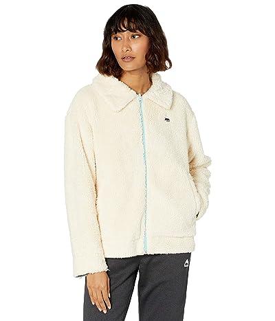 Burton Lynx Full Zip Reversible Fleece Jacket (Creme Brulee/Ether Blue) Women