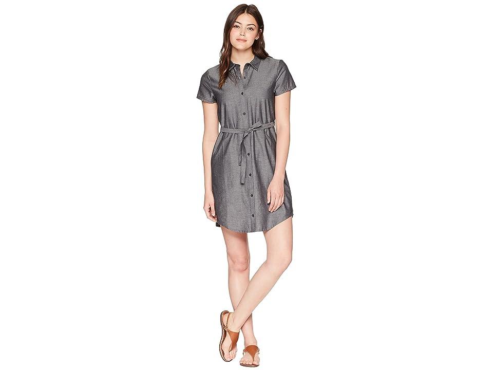NAU Short Sleeve Twisted Shirtdress (Caviar) Women