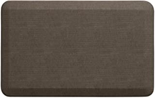 """NewLife by GelPro Anti-Fatigue Designer Comfort Kitchen Floor Mat, 20x32"""", Grasscloth Pecan Stain Resistant Surface with 3/4"""" Thick Ergo-foam Core for Health and Wellness"""