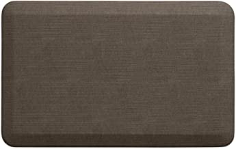 """NewLife by GelPro Anti-Fatigue Designer Comfort Kitchen Floor Mat, 20x32"""", Grasscloth Pecan Stain Resistant Surface with ..."""