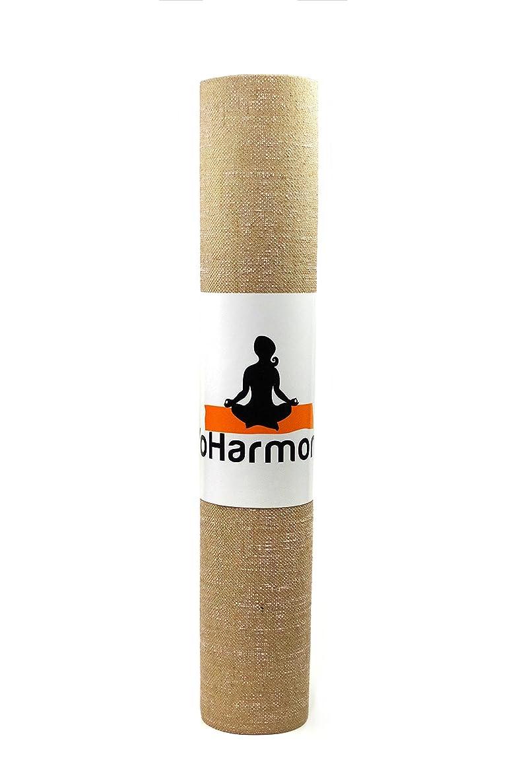 YoHarmony Eco Friendly Jute Yoga Mat Pilates Mat Exercise Mat