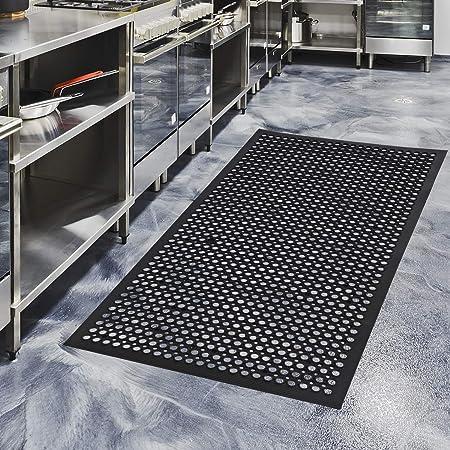 Amazon Com Rubber Door Mats Anti Fatigue Floor Mat For Kitchen New Bar Floor Mats Commercial Heavy Duty Bath Mat Black 36 X 60 Kitchen Dining