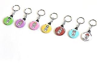 南三陸モアイファミリー 《 キーホルダー キーリング 7色セット 》おもしろ雑貨 おもちゃ 鍵 かわいい 小さい 雑貨 小物 プレゼント
