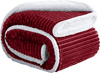 Ornavo Home Soft Plush & Fuzzy Throw Sherpa Lined Fleece Bed Blanket & Couch - Reversible & All Seasons - Queen, 90