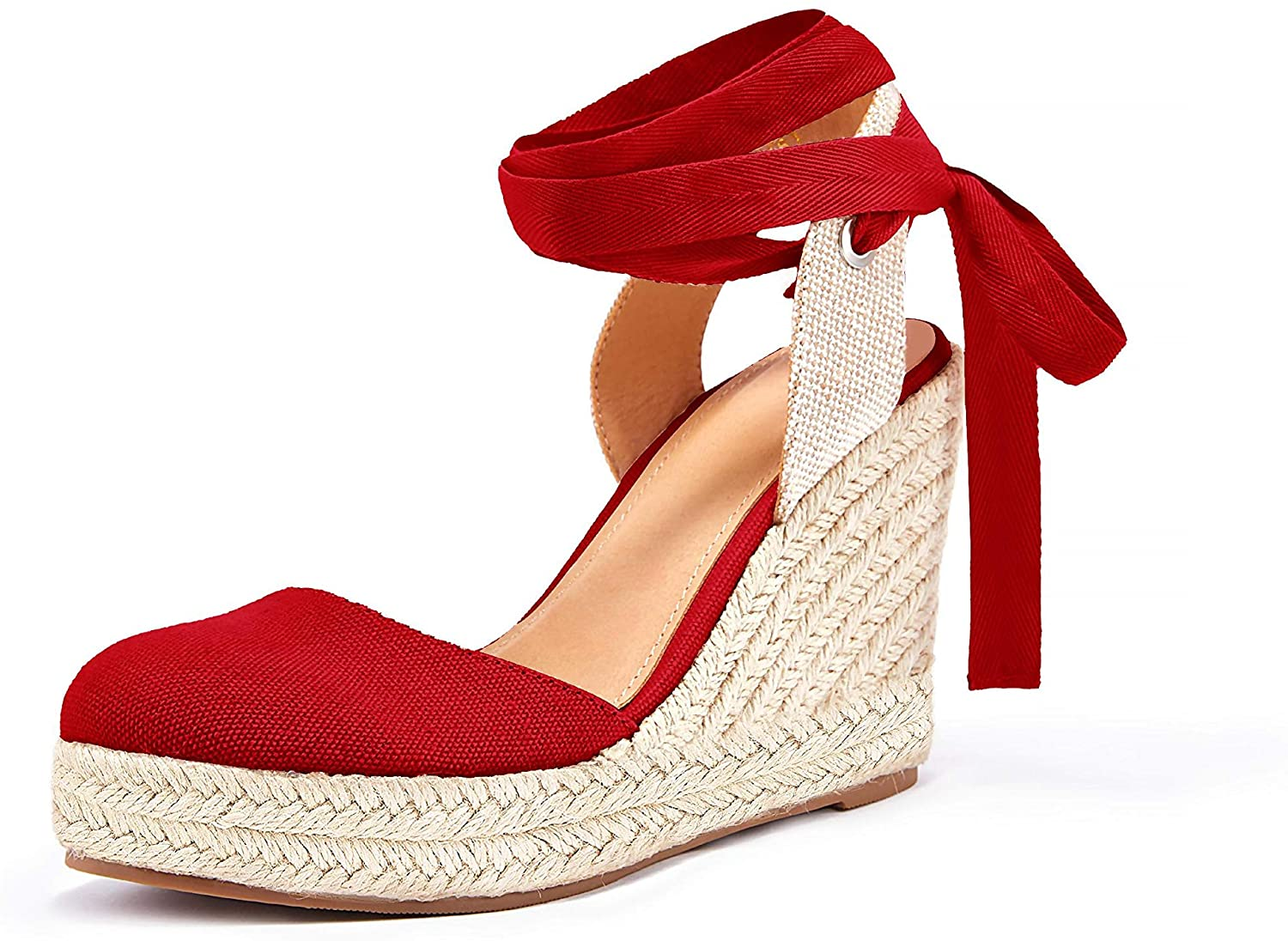 Nailyhome Womens Espadrille Platform Wedge Sandals Ankl Toe Finally resale start Open Max 48% OFF