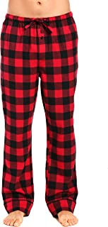 Noble Mount 100% Cotton Mens Flannel Pajama Pants with Pockets & Drawstring