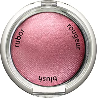 Palladio Baked Blush, Wish, 2.5g, Highly Pigmented and Shimmery Powder Blush, Apply Dry for Natural Glow or Wet for Dramatic Radiance, Easy to Blend Makeup Blush, Apply Blusher with Blush Brush