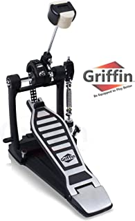 Single Kick Bass Drum Pedal by Griffin|Deluxe Double Chain Foot Percussion Hardware for..