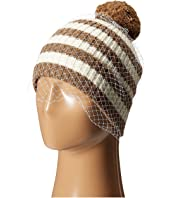 BCBGMAXAZRIA - Striped Veil Beanie