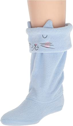 Joules Kids Smile Fleece Welly Sock (Toddler/Little Kid/Big Kid)