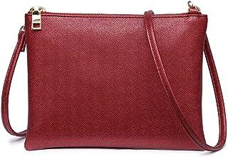 Crossbody Tasche für Damen, Kleine Schulterbörsen und Handtaschen mit veganem Leder, Clutch-Geldbörse mit abnehmbarem Riemen