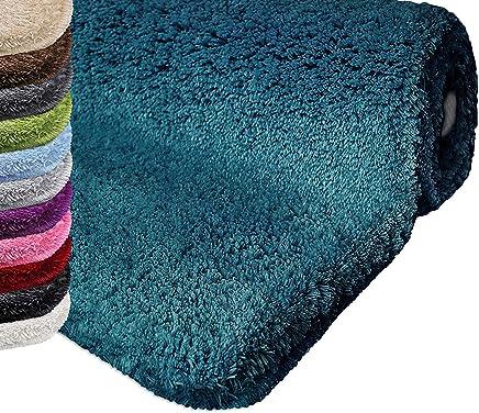 Amazon.fr : tapis bleu turquoise - Tapis de bain / Salle de ...