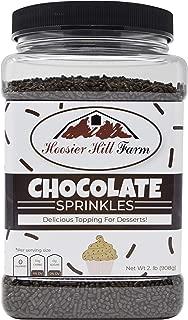 Hoosier Hill Farm Chocolate decorating sprinkles, Large 2 lbs Jar