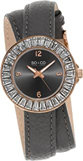 So & Co New York Soho Women's Grey Dial Leather Band Watch - 5070.4